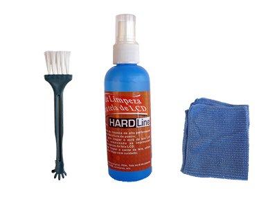 Kit Spray de Limpeza para Monitores/Notebook/LCD 100ML + Pano + Pincel Hardline - KCL-1014
