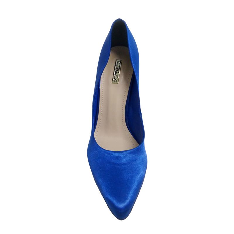Scarpin Feminino Cetim Azul Divalesi - 71008 - TAMANHO 33