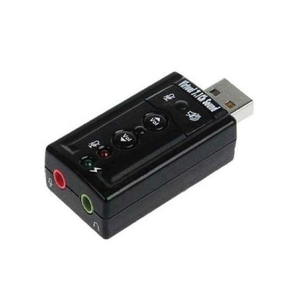 Adaptador de Som USB 7.1 Canais 2 Entradas Exbom - USOM-10 - USOM-10 - 0541
