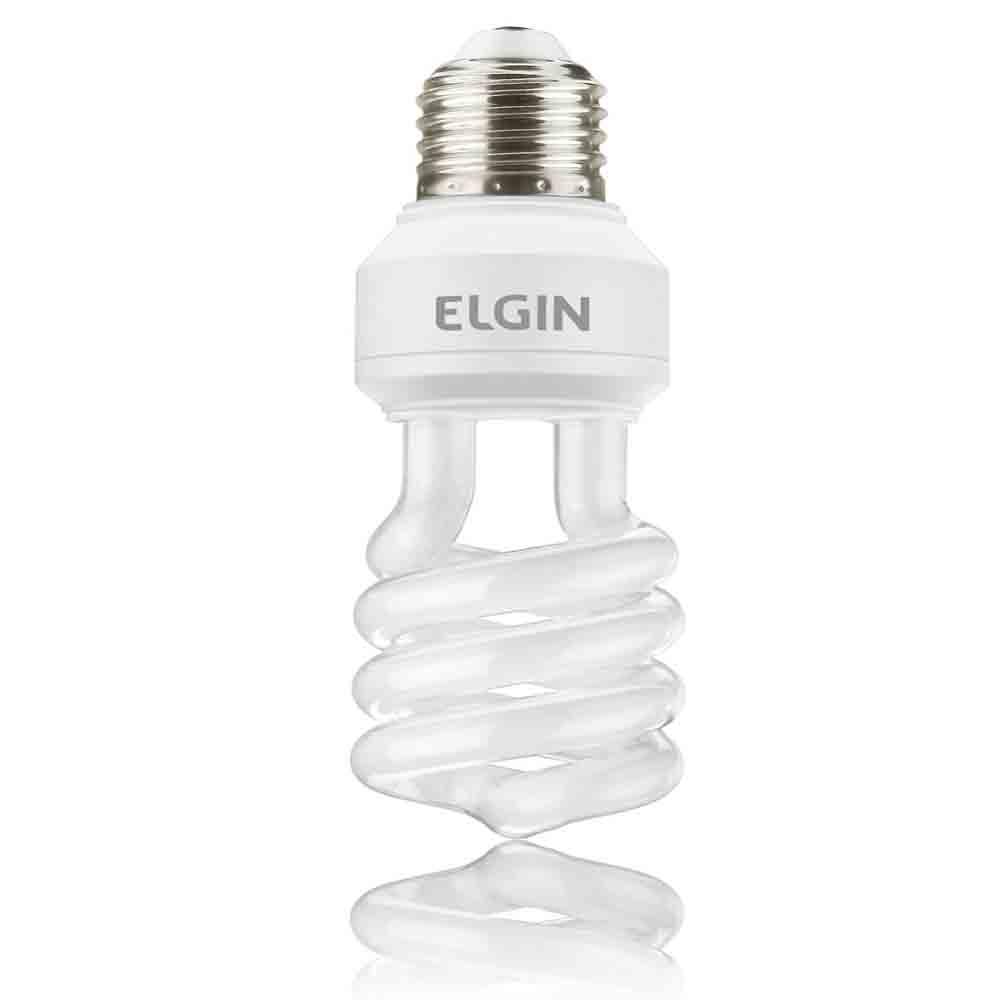 Lâmpada Fluorescente Espiral 11 Watts E27 127 Volts - Elgin - E13S2