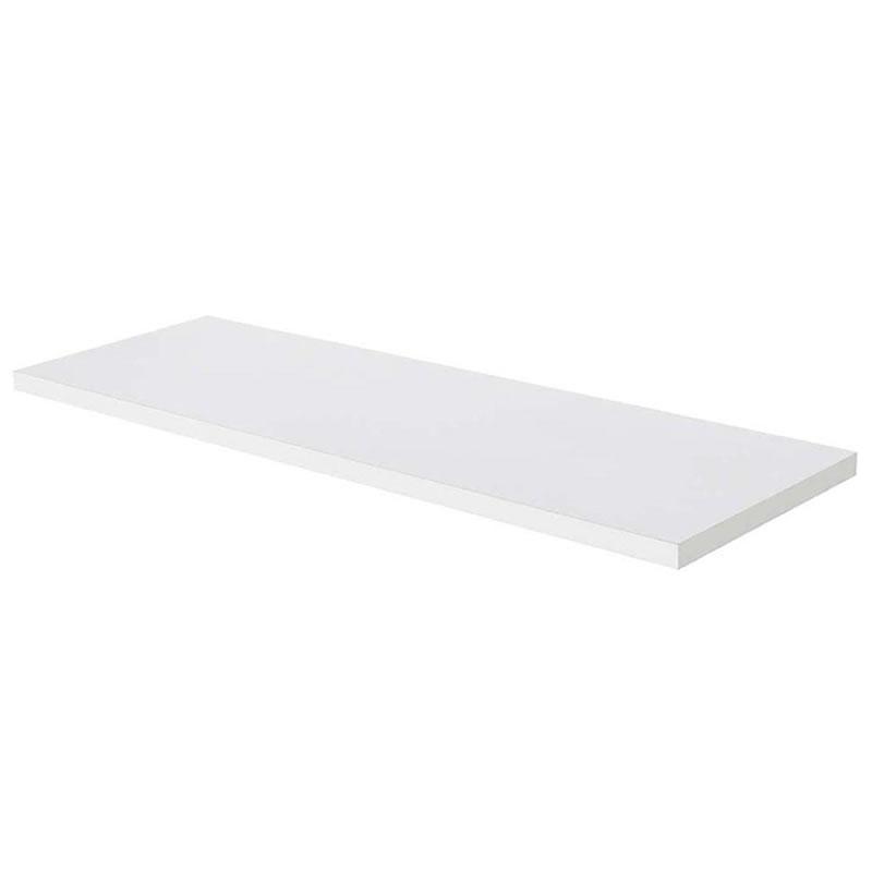 Prateleira Reta 15mm em MDP 90 x 30cm Shelf PB Branco - Multivisão - PB-3090-UV