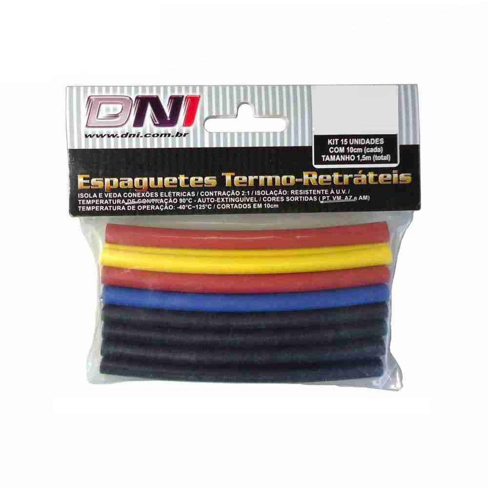 Espaguete Termo-Retrátil 6mm DNI 15 Unidades - 5106 - 5106