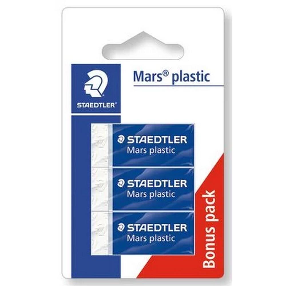 Borracha Branca Blister com 3 Unidades Mars Plastic - Staedtler - 52653ABK3D03