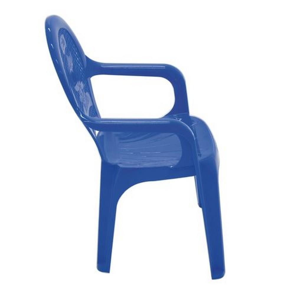 Cadeira Infantil Fixa Poltrona de Plástico Azul Catty - Tramontina - 92264-070