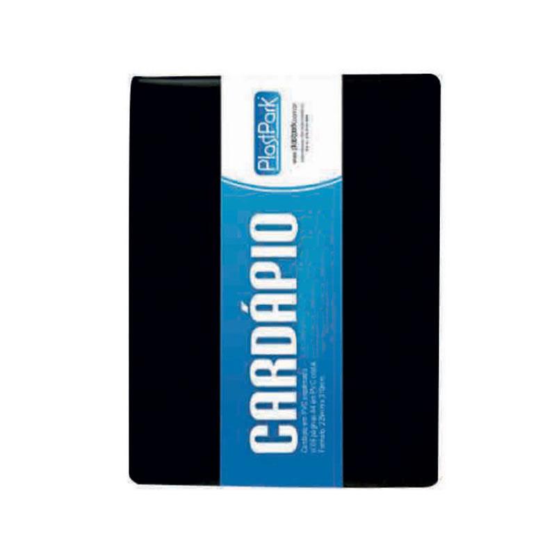 Pasta PVC para Cardápio A5 2 Folhas PlastPark - 196