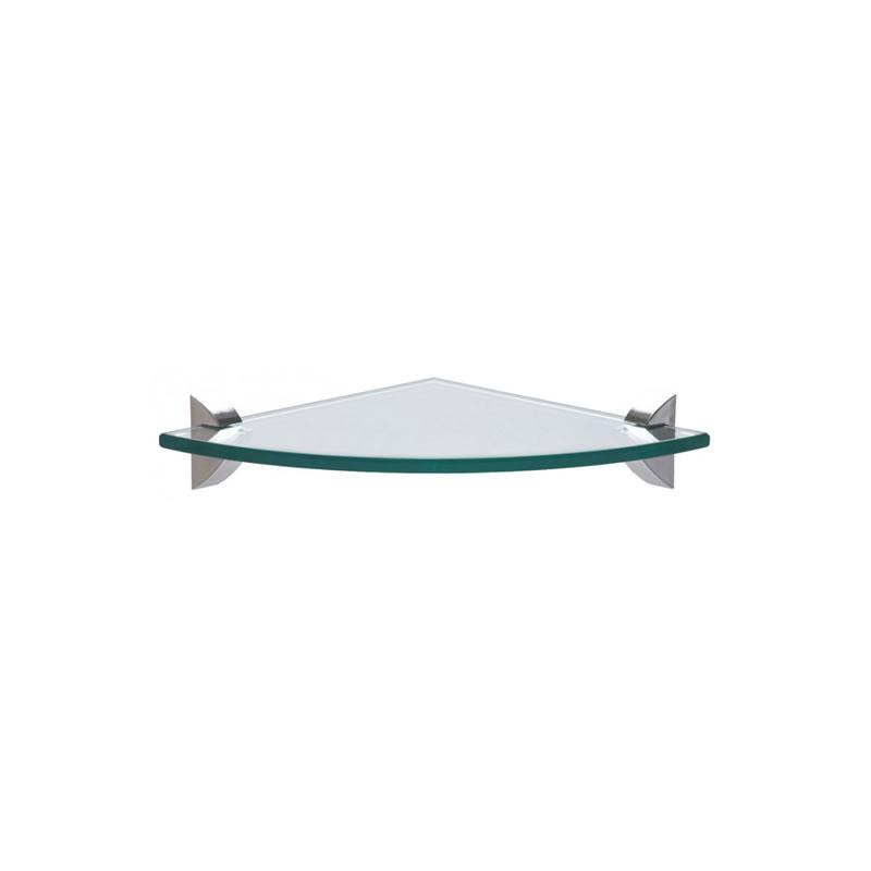 Prateleira de Canto 8mm em Vidro Glass 200x200x8 mm Tramontina - 91220/002
