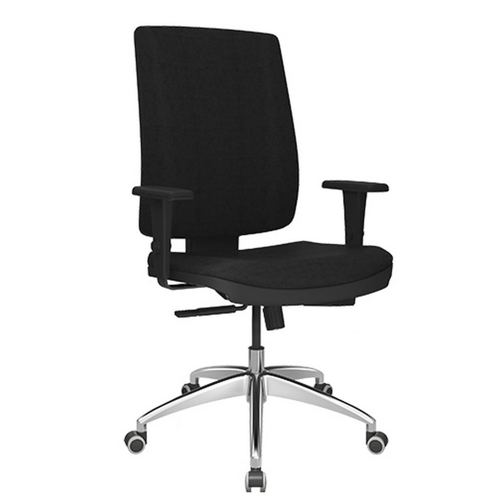 Cadeira Giratoria com Braço Presidente Brizza Preto Plaxmetal - 37858.1.2.3.1.1.1.9