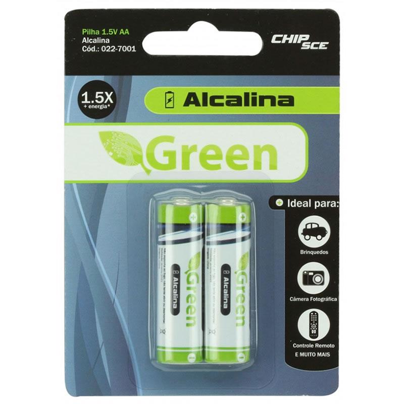 Pilha Alcalina AA 1,5V Green 2 Unidades - 022-7001
