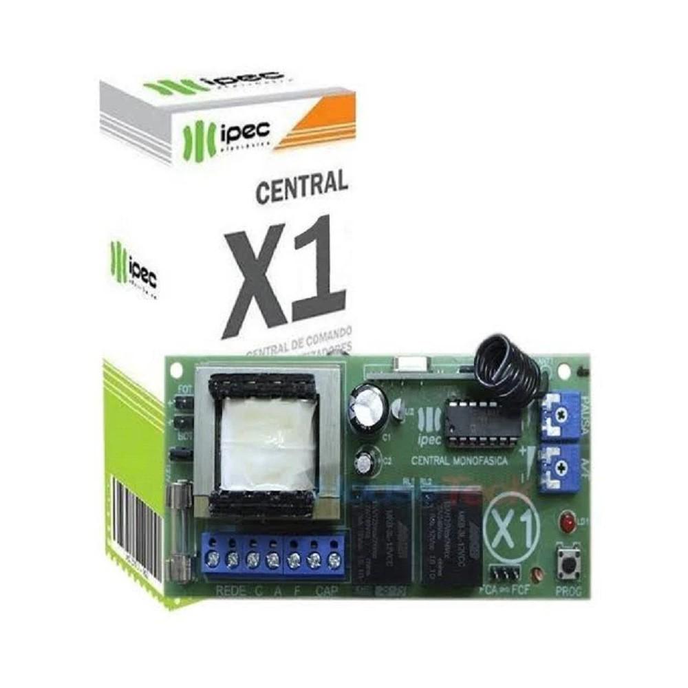Central para Motor Automatizador Universal Light X1 Até 1/2 CV - Ipec - A2250-X1 - A2250-X1