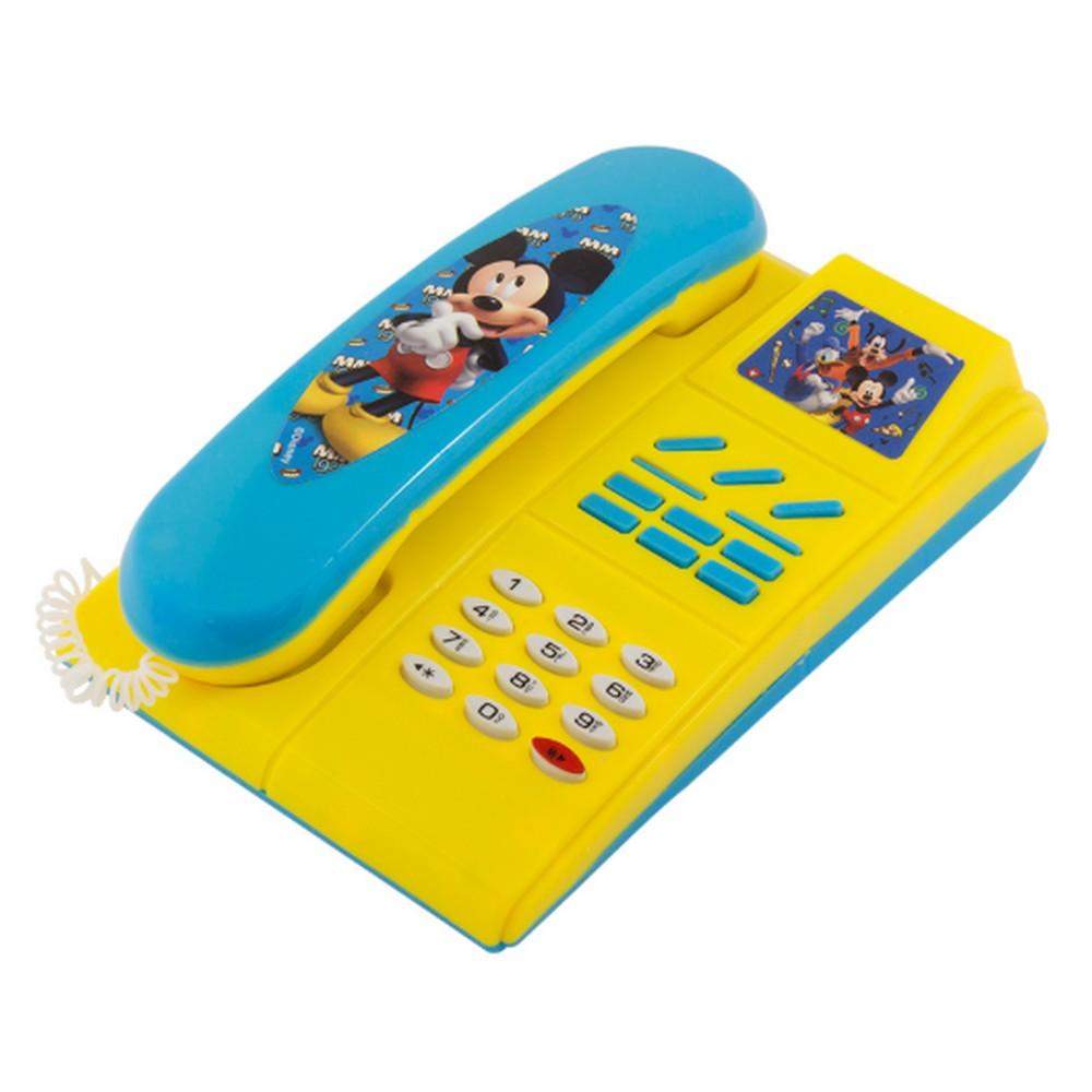 Telefone Musical Mickey Unidade Amarelo com Azul  Etitoys - DY-138