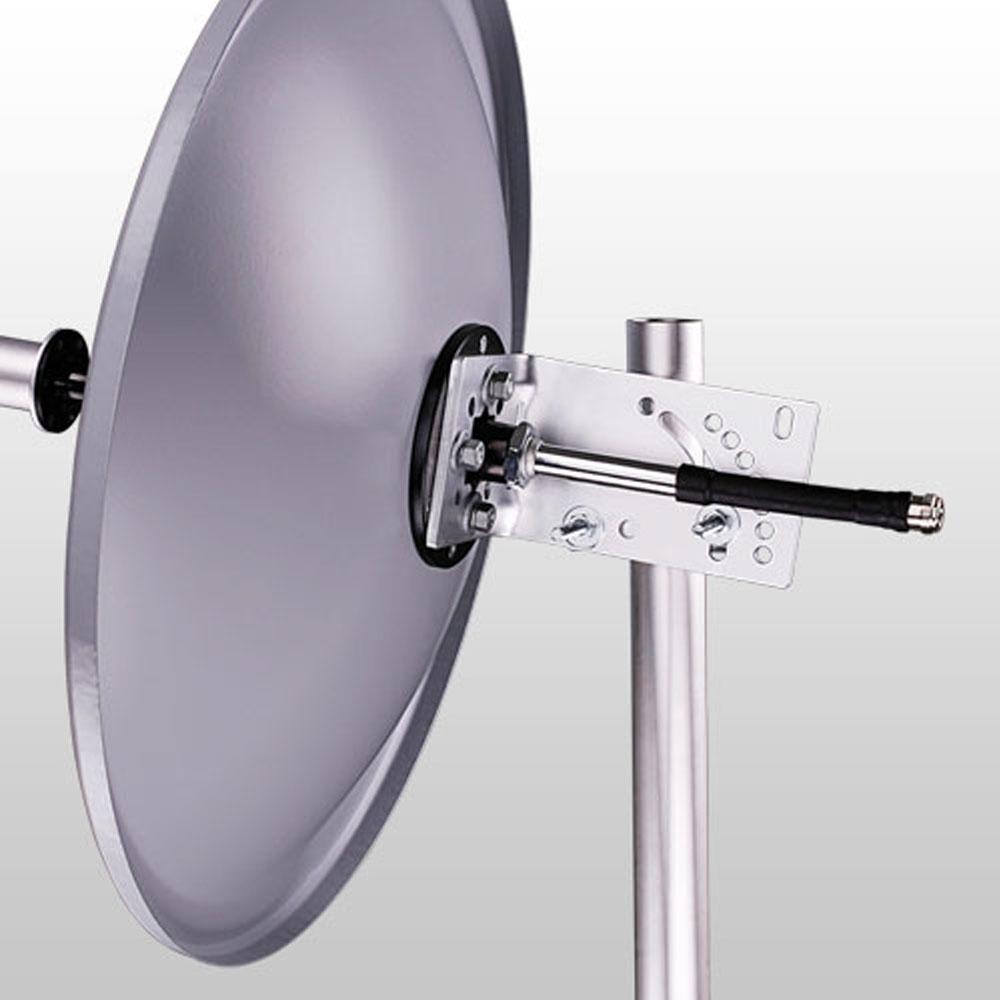 Antena Mini Parabólica Direcional Off Set de Polarização Simples Wireless 25 DBI 5.8 GHz Aquário - MM-5825