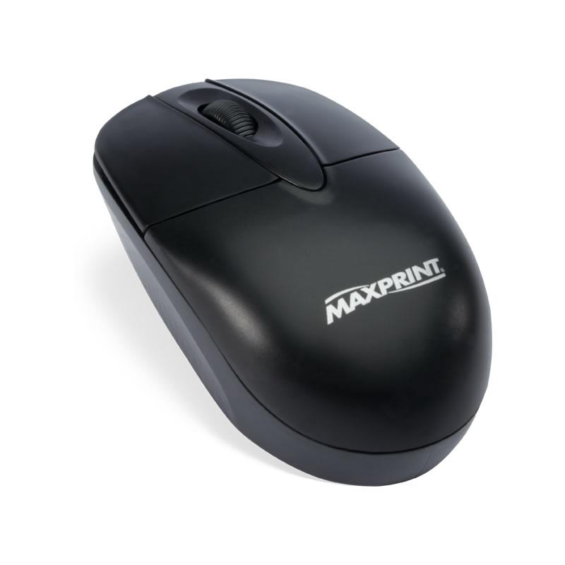 Mouse USB Maxprint 60607-1 800dpi Preto- Vendido Unitário