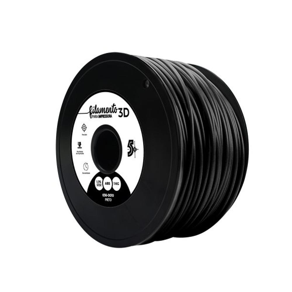 Filamento para Impressora 3D 1,75mm ABS Chip Sce Preto - 036-0010