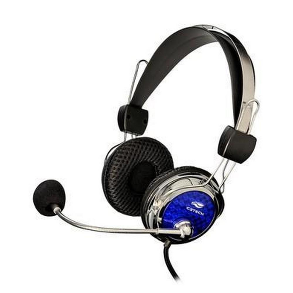 Fone de Ouvido Headset com Microfone C3Tech Pterodax Azul - MI-2322RC