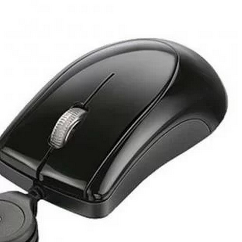 Mouse USB Mini-Retrátil Multilaser MO048 Preto