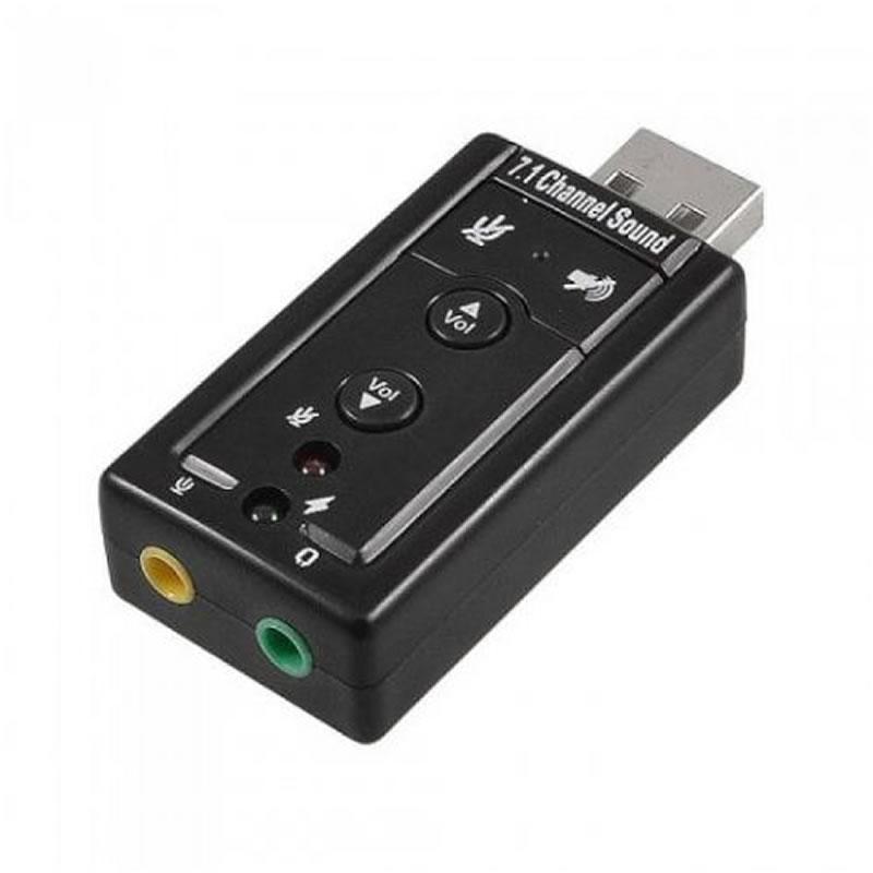 Adaptador de Som USB 7.1 Canais 2 Entradas GV.Brasil - COV.020