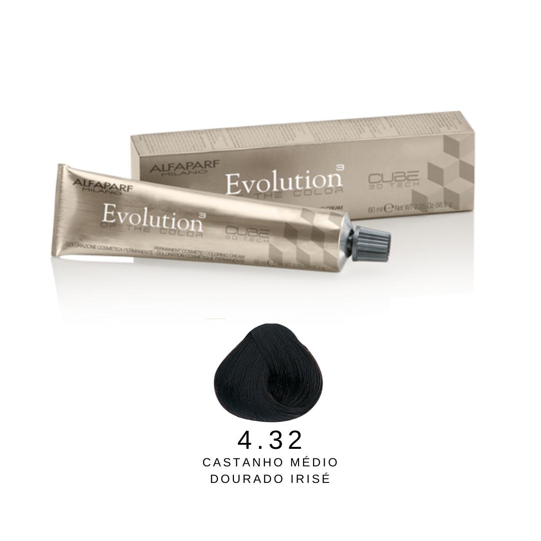 4.32 - Castanho Médio Dourado Irisé - Alfaparf Evolution