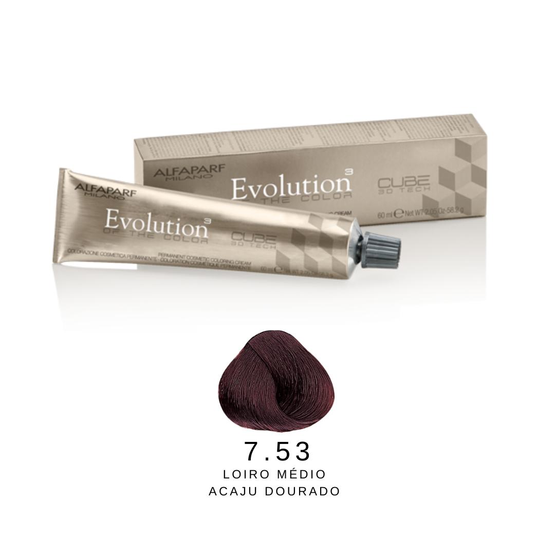 7.53 - Loiro Médio Acaju Dourado - Alfaparf Evolution