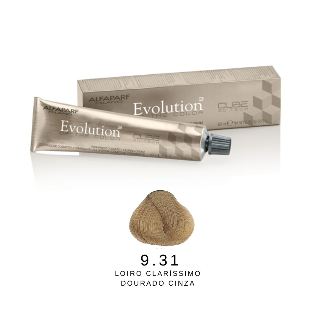 9.31 - Loiro Clarissímo Dourado Cinza - Alfaparf Evolution