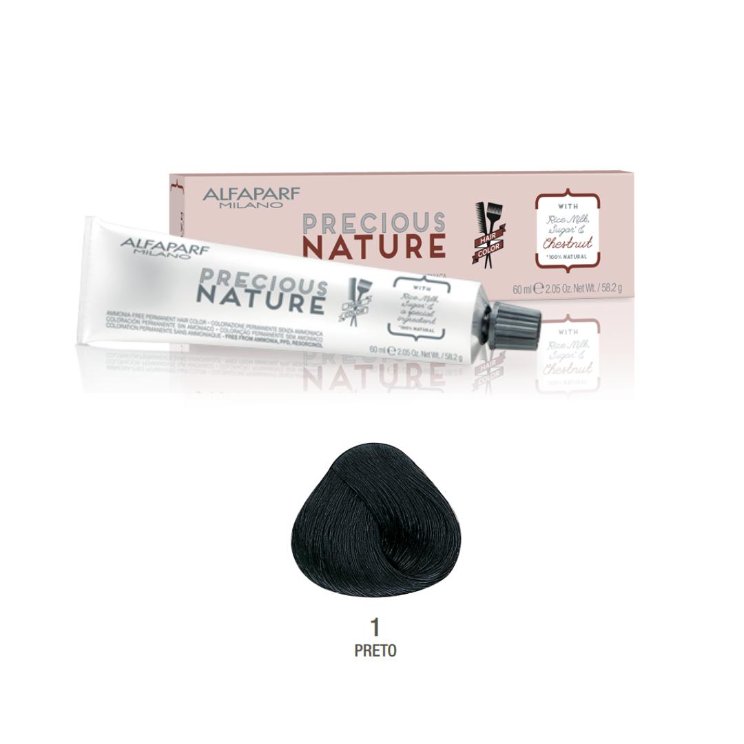 1 - Preto - Alfaparf Precious Nature Hair Color Naturais 100% natural