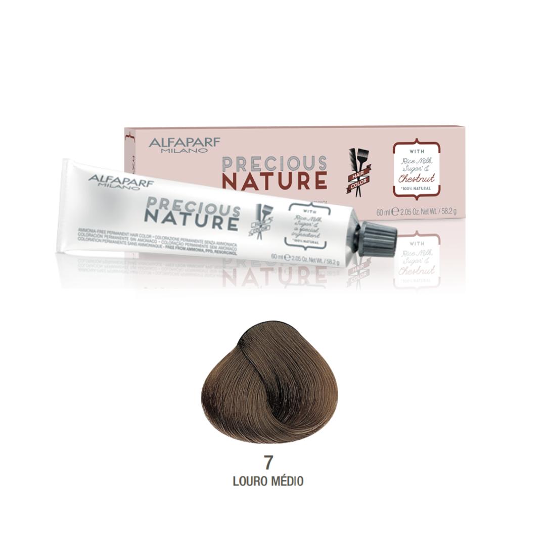 7 - Louro Médio - Coloração Alfaparf Precious Nature Hair Color Naturais 100% natural