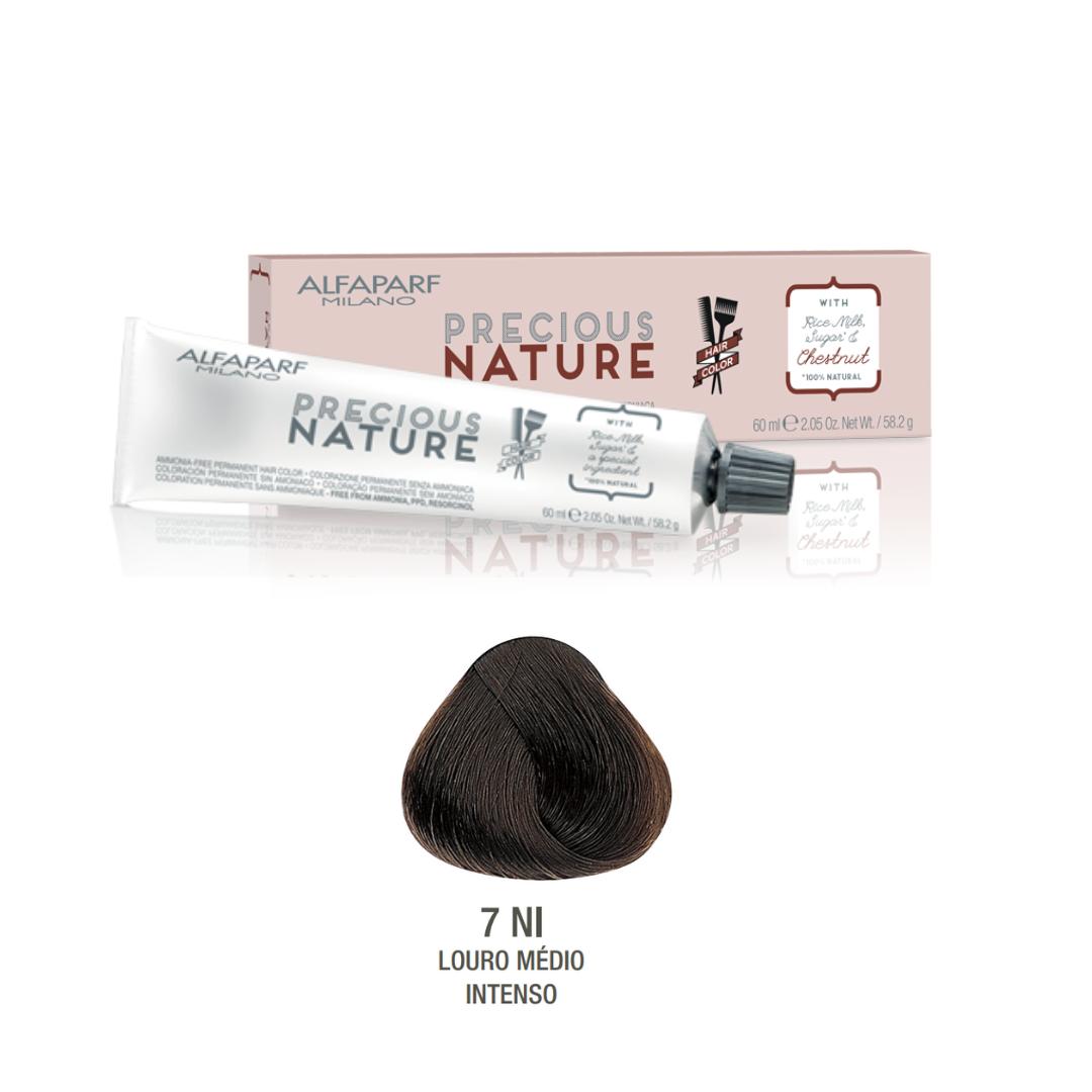 7 NI - Louro Médio Intenso - Coloração Alfaparf Precious Nature Hair Color Naturais 100% NI