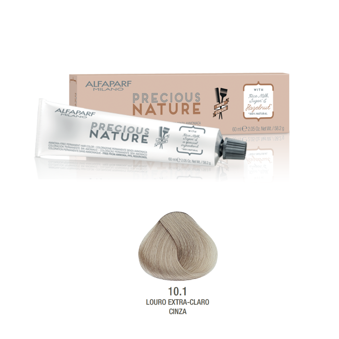 10.1 - Louro Extra-claro cinza - Coloração Alfaparf Precious Nature Hair Color Castanhos frios 100% natural
