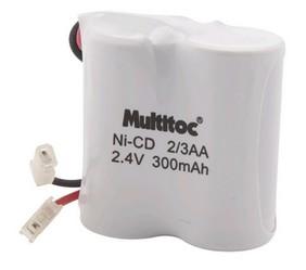 Bateria para Telefone sem Fio Multitoc Toshiba 300MAH 2,4V 2/3AA - MUBA0010
