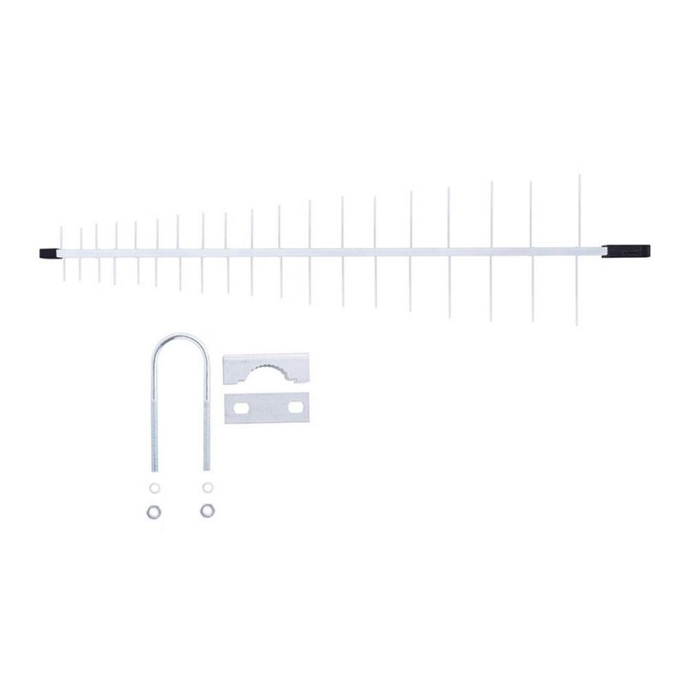 Antena Log Externa para Instalações Coletivas de TV HDTV/UHF 19 Elementos Conector Atrás Aquário - LU-19C