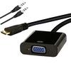 Conversor Mini HDMI Macho para VGA Fêmea + Áudio - 20cm - GV Brasil - CBH.559