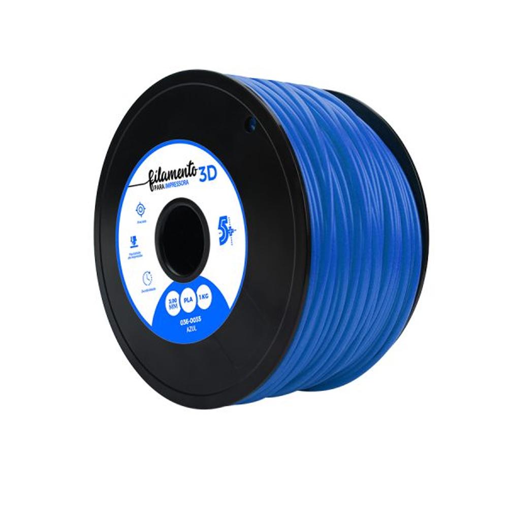 Filamento para Impressora 3D 3mm PLA Chip Sce Azul - 036-0035