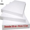 Chapa de Isopor EPS 75MM 100X50CM Isoeste Pacote com 3 Unidades - 323482