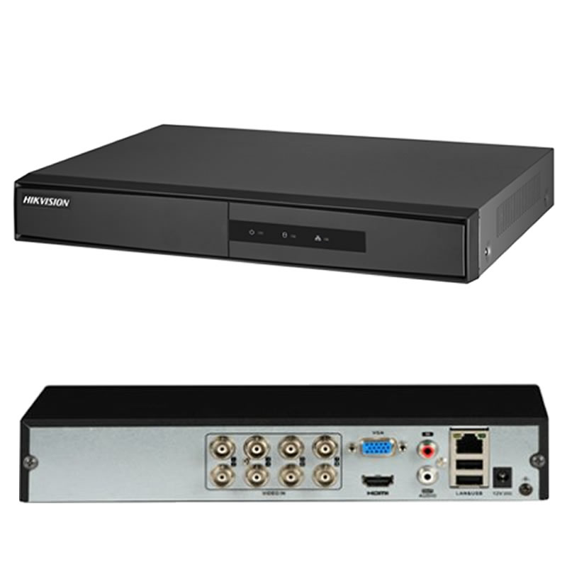 DVR Turbo HD 720P Hikvision 8 Canais Híbrido - DS-7208HGHI-F1 - DS-7208HGHI-F1