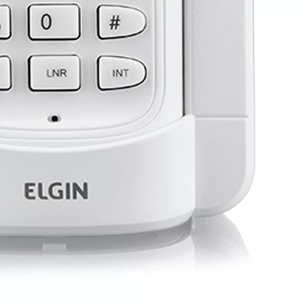 Ramal extensão Telefone sem Fio Elgin Dect 6.0 com Identificador de Chamadas e Viva-Voz Branco - TSF 8000R - 42TSF8000RB0