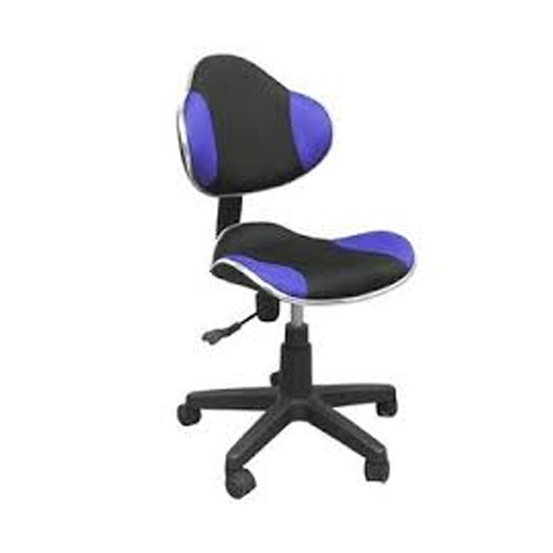 Cadeira Giratória sem Braço Escritório Azul e Preto Multivisão - CAD-PRO-AZPR