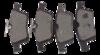 PASTILHA DE FREIO de Cerâmica FASTPAD - FORD Focus - JAGUAR XJ8 / XJ6 / XF / S-Type - MAZDA Mazda 3 / 5 - RENAULT Laguna II - VOLVO C30 /  C70 / S40 / V50 - Traseira - FP732