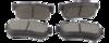 PASTILHA DE FREIO de Cerâmica FASTPAD - HYUNDAI Azera / Elantra / Santa Fé / Sonata / Tucson - KIA Amanti / Cadenza / Carens / Magentis / Opirus / Optima / Sportage - Traseira - FP715