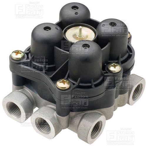 Conjunto Válvula de Proteção 4 Circuitos Volvo - Roscas: 1 = M22 / 11, 12 = M16 / 21, 22, 23, 24 = M16 - FJ47825-295