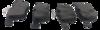 Pastilha de Freio Willtec Antirruído - AUDI A3 - VOLKSWAGEN Novo Golf - Traseira - PW212P