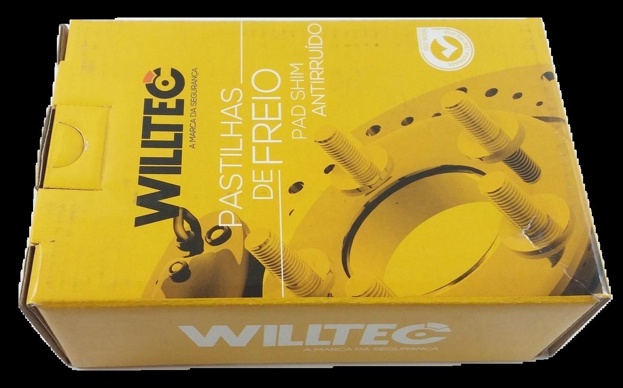 Pastilha de Freio Willtec Antirruído - GM Novo Trailblazer LTZ - Traseira - PW236P