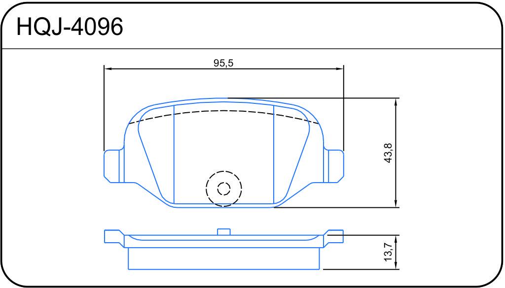 PASTILHA DE FREIO de Cerâmica Fiat 500 / Bravo / Linea / Punto / Alfa Romeo 147 / 156 - Traseira - HQJ4096